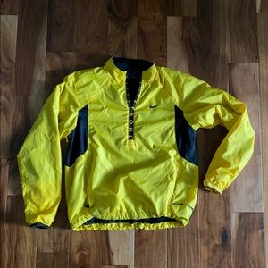 Nike Live Strong Dri-Fit yellow 1/4 zip jacket SM